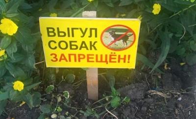 """Наклейки """"Выгул собак запрещен"""" для управляющей компании"""