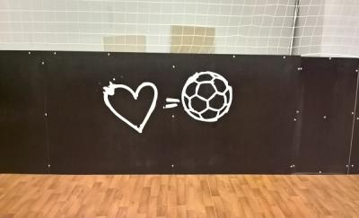 """Наклейки для футбольной площадки """"Академии спорта"""""""