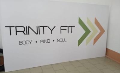 Баннер на каркасе для фитнес-зала
